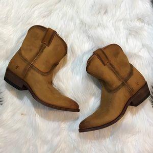 Frye Nwob Billy Cognac Western Cowboy Boots